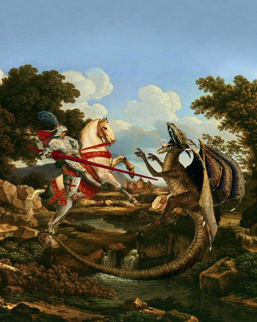 St._George_Slaying_the_Dragon_by_Howard_David_Johnson